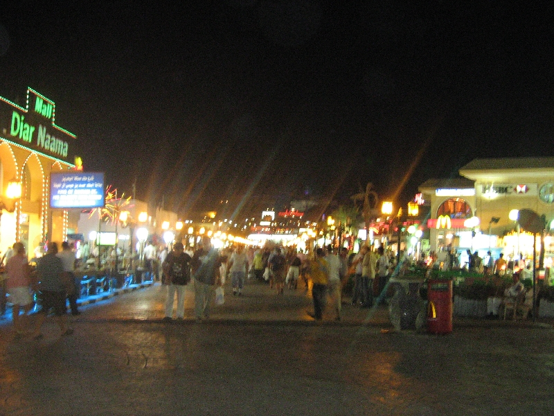 Naama Bay in Sharm el Sheikh, Egypt