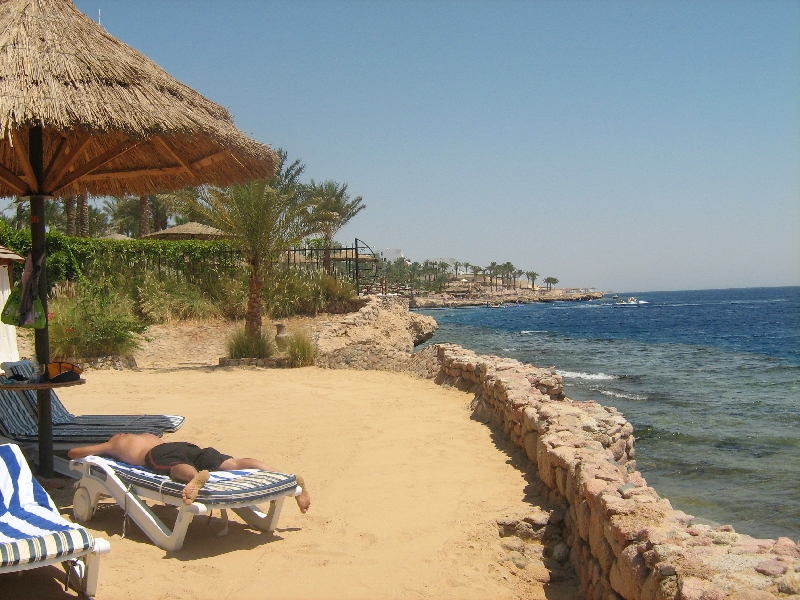 The hotel in Sharm el Sheikh, Egypt