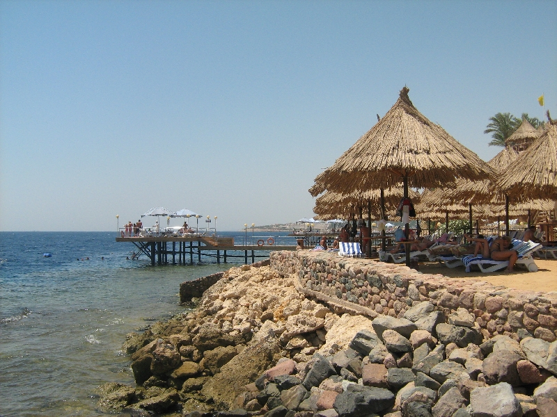Accomodation on the beach, Egypt