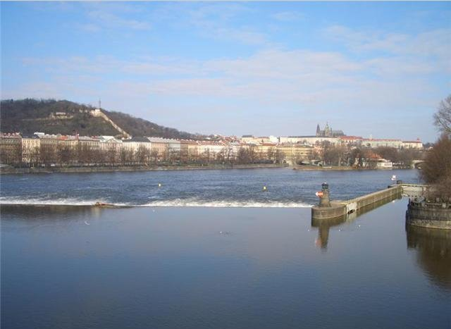 The Vltava River of Prague, Czech Republic