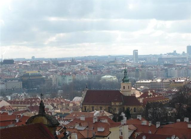 Prague as seen from Clementinum, Prague Czech Republic