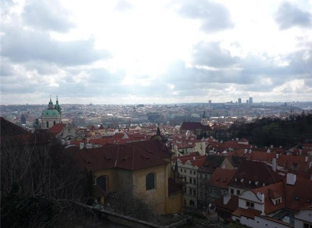 Prague seen from the Castel, Prague Czech Republic