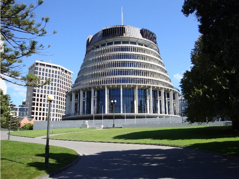 The Beehive of Wellington, Wellington New Zealand