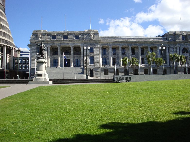 The Parliament Building in Wellington, New Zealand