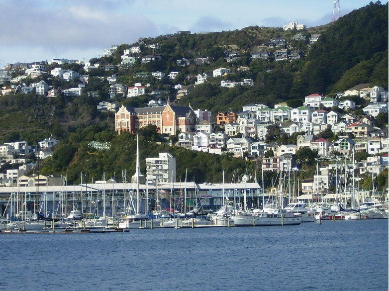 The harbour of Picton, Wellington New Zealand