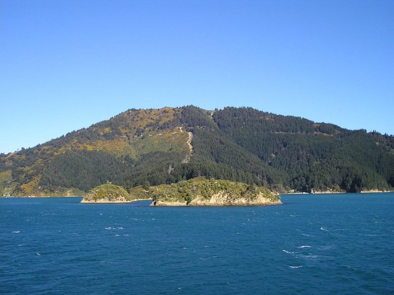 Cook Strait between North and South Island, New Zealand