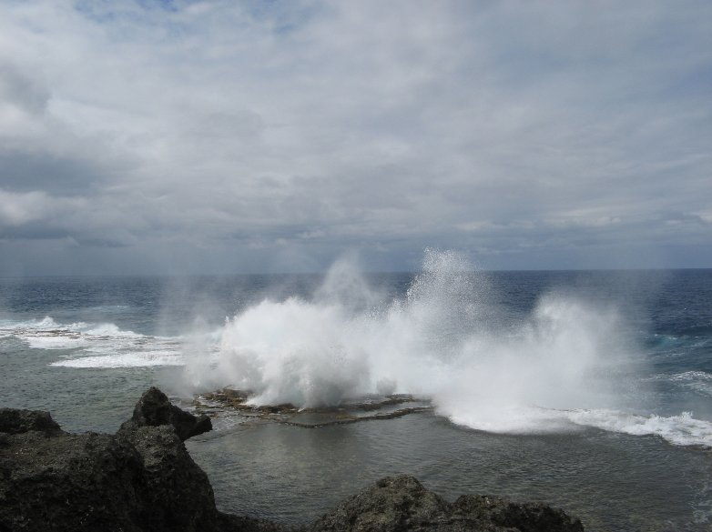 Pictures of Tongan blowholes, Tonga