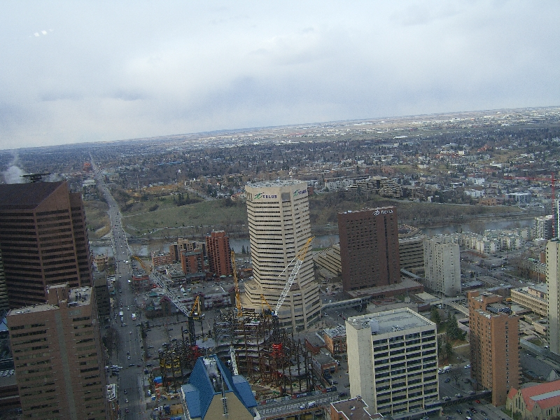 Looking out over downtown Calgary, Canada