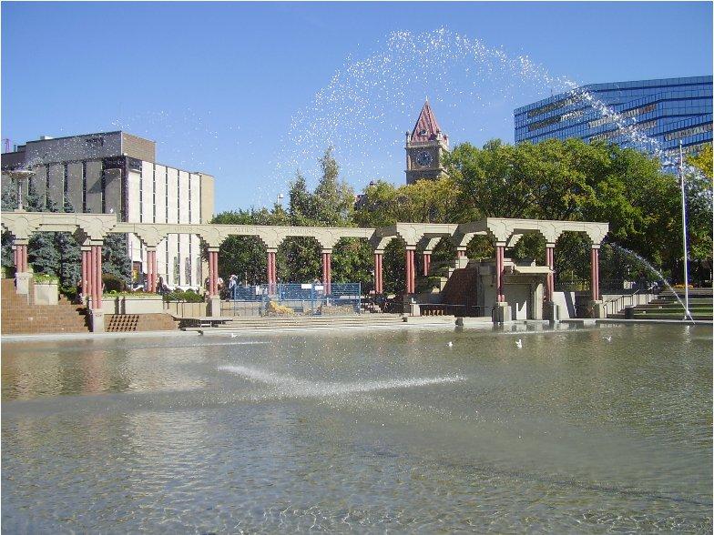 Central square in Calgary, Canada