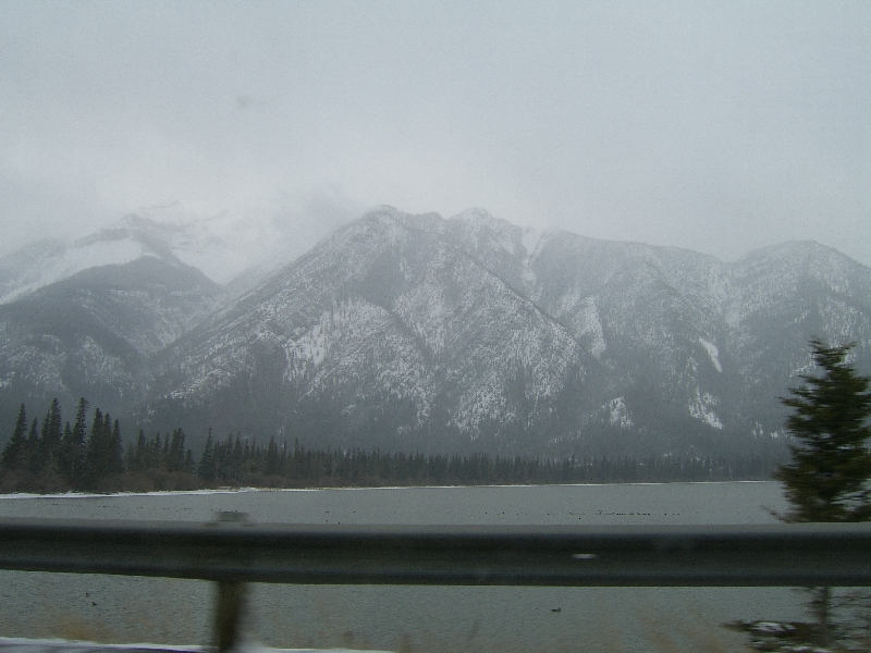 Driving through Banff National Park, Calgary Canada