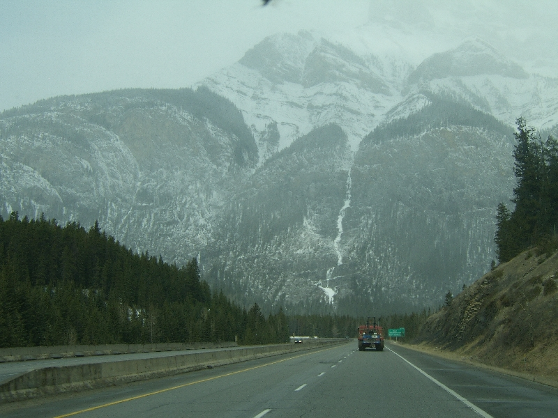 On the road in Alberta, Canada