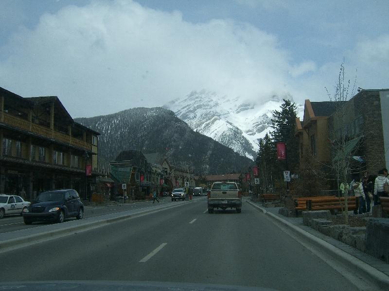 Calgary Canada Cascade Mountain from Banff