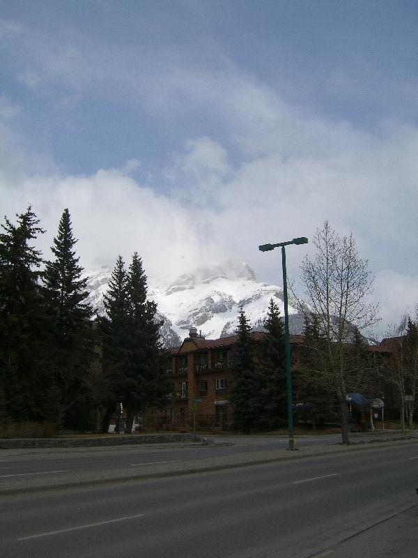 The town of Banff in Alberta, Canada