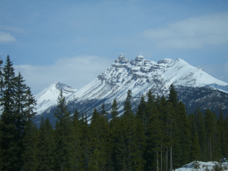 Beautiful Snowy Mountains, Calgary Canada