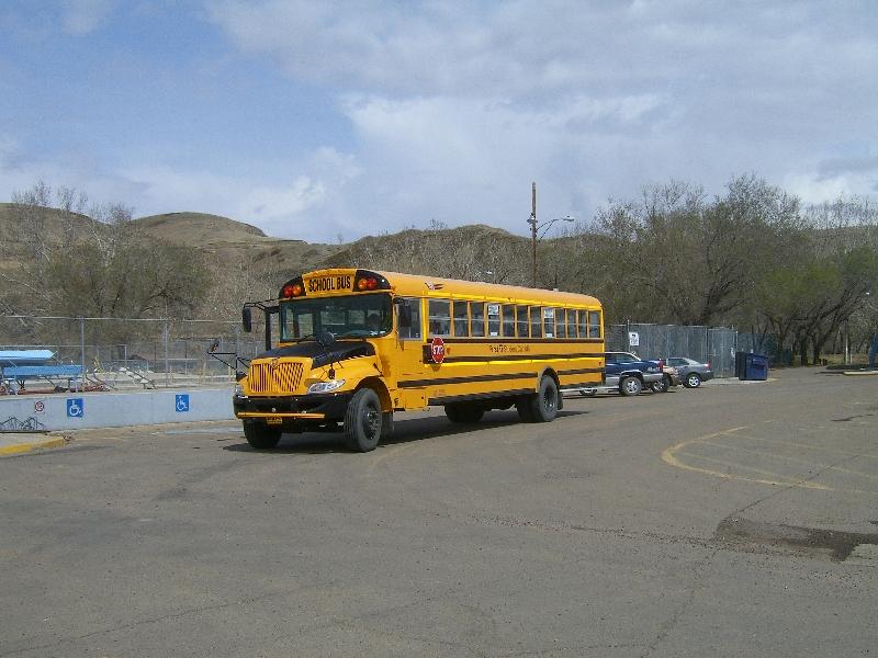 Canadian schoolbus in Calgary, Canada