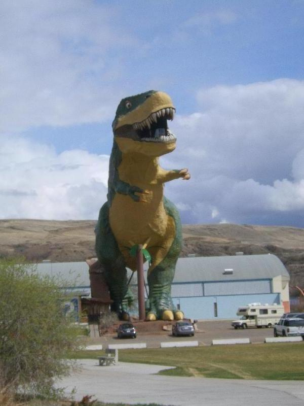 The giant dinosaur, Canada