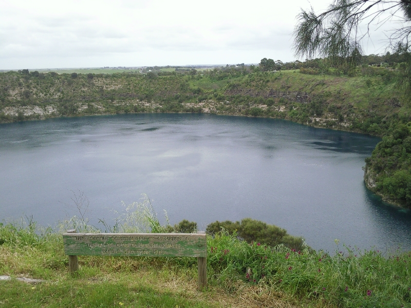 Mount Gambier Australia Blue Lake from Apex Lookout