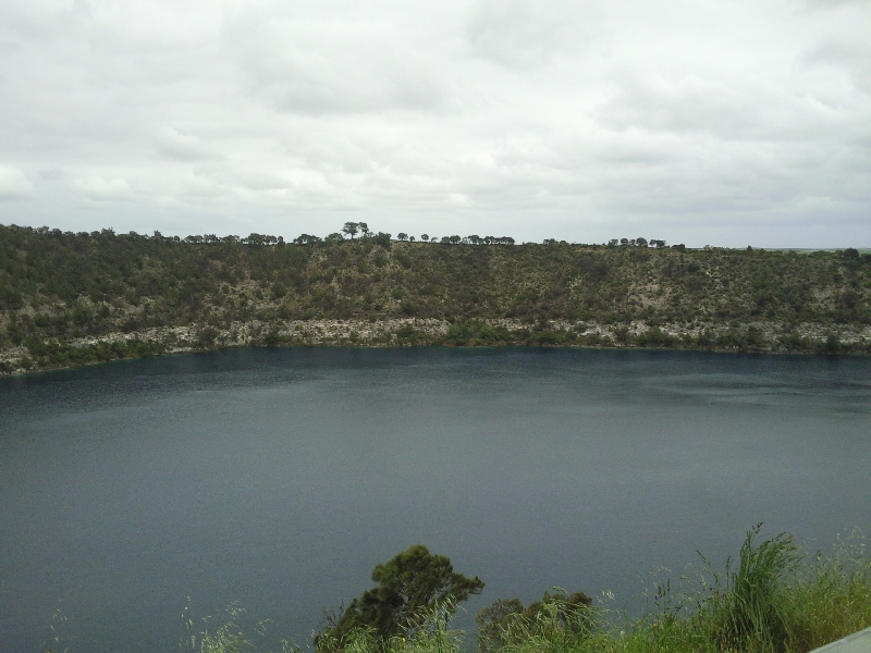 Blue Lake in Mount Gambier, Australia