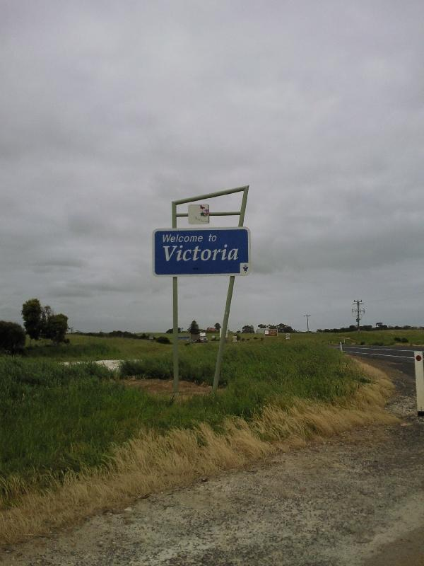 Welcome in Victoria sign, Australia
