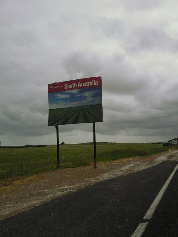 Welcome in South Australia sign, Mount Gambier Australia