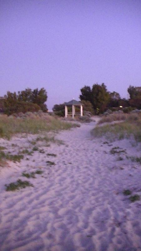 Jurien Bay Australia Walking back to our accomodation...