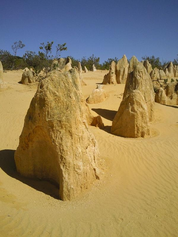 The pinnacle rock formations, Australia