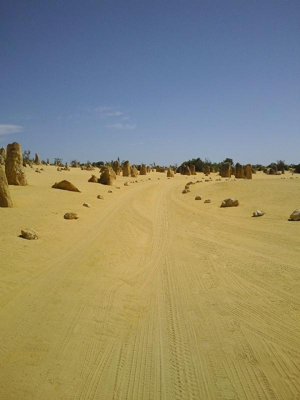 The unsealed road, Cervantes Australia
