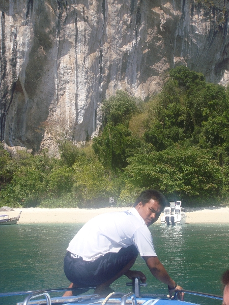Arriving by speedboat on Ko Hong, Thailand