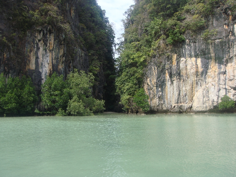The lagoon of Ko Hong, Thailand