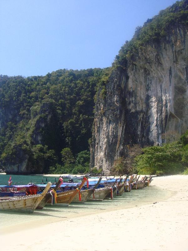 Longtail boats in Ko Hong, Ko Hong Thailand