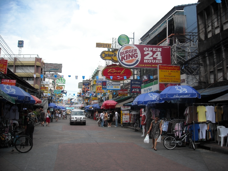 The famous street from The Beach, Bangkok Thailand