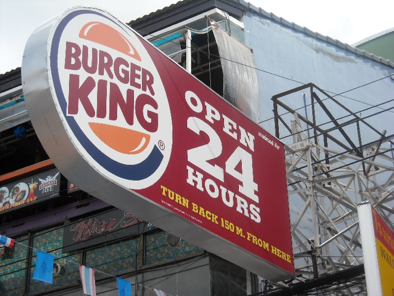 The Burger King!, Bangkok Thailand