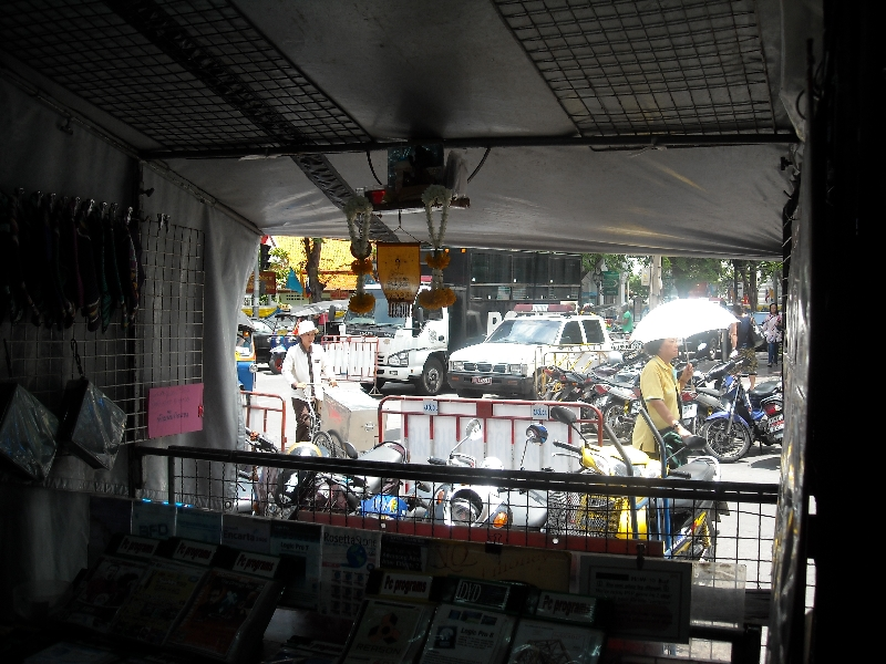 The shops of Khao San Road, Thailand