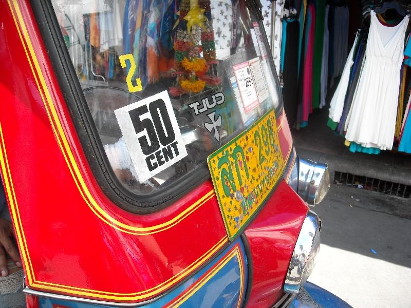 Tuk tuk on Khao San Road, Bangkok Thailand