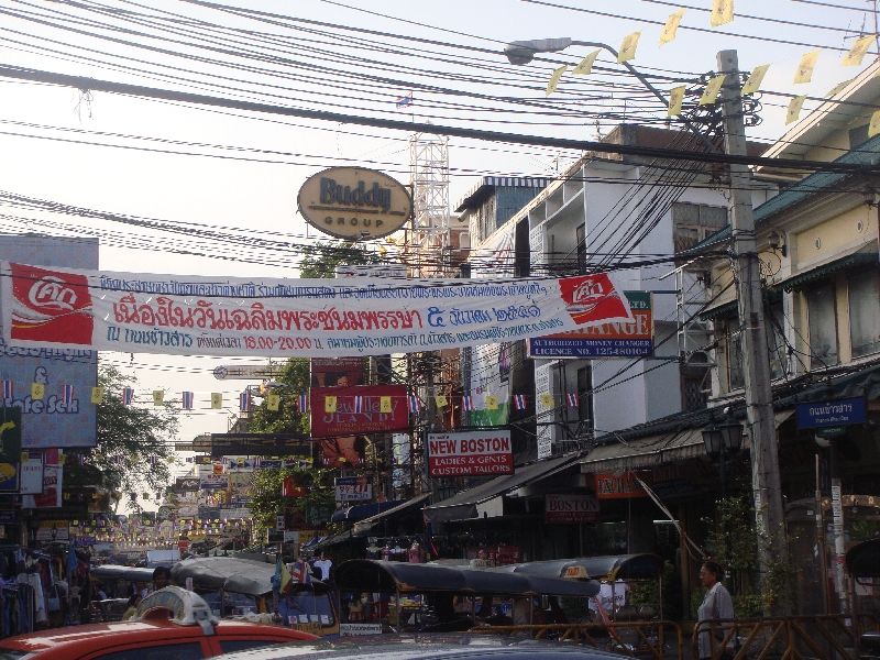 The entrance of Khao San Road, Thailand
