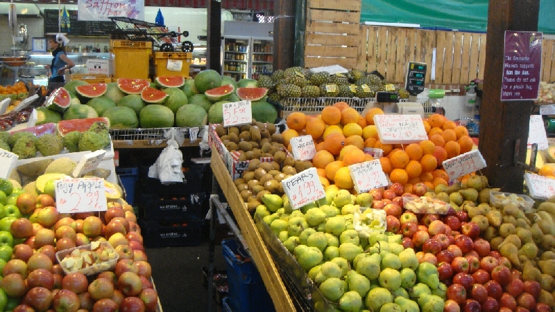 Fresh fruit on the market, Australia