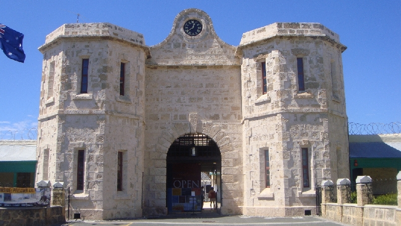 The facade of the Fremantle goal, Australia