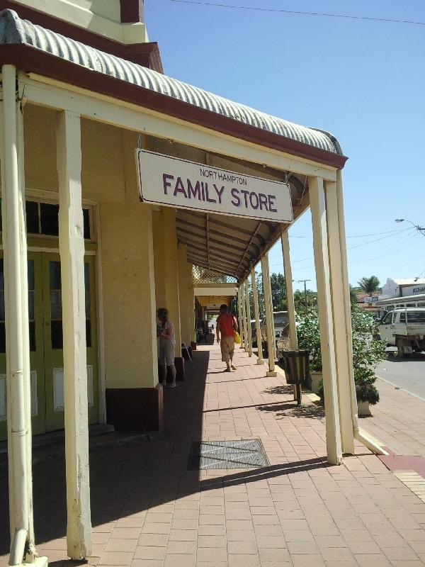 The shopping lane of Northampton, Australia