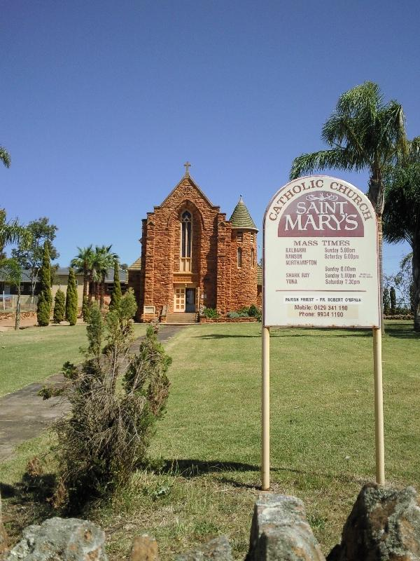 Northampton Australia Picture of the church