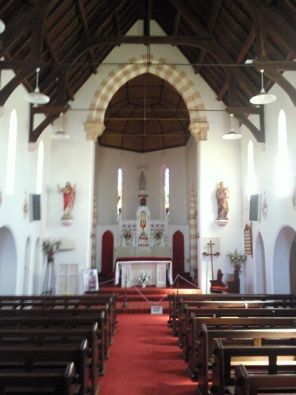 Inside the St. Mary's Church, Northampton Australia