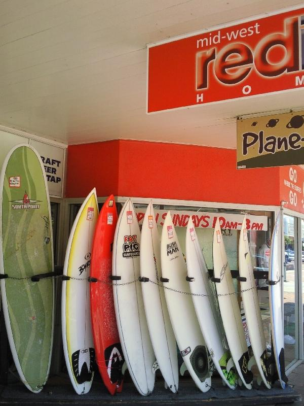 Local surf store Geraldton, Australia