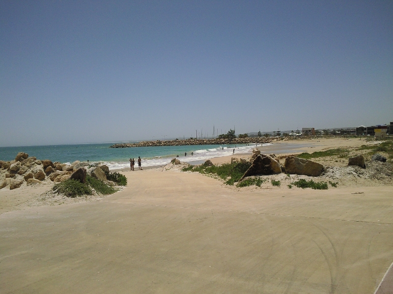 The beach in Geraldton, Australia