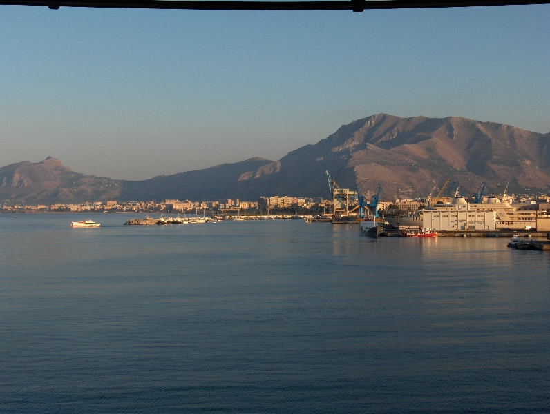 Taking the ferry to Naples, Palermo Italy