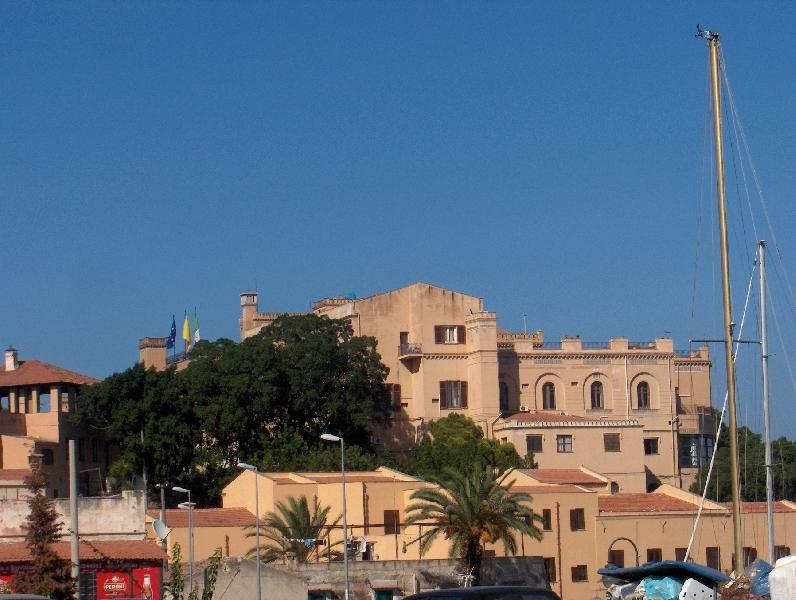 Villa Igiea dal Molo dell' Acquasanta, Palermo Italy
