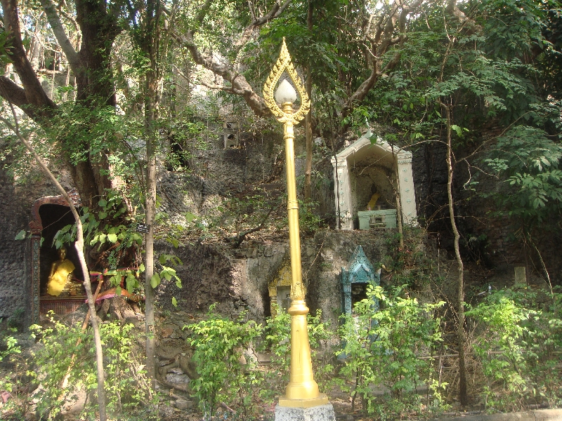 Buddhist altars close to the fort, Thailand