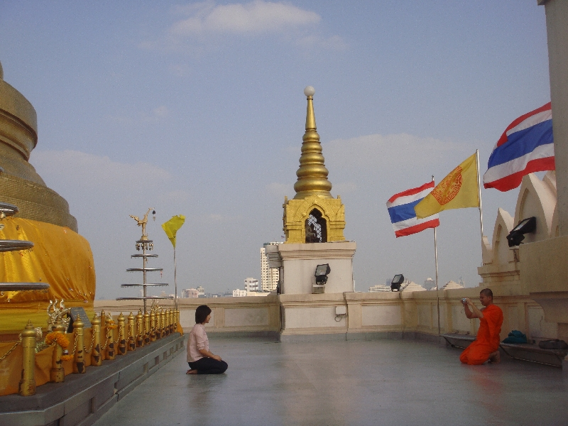 Bangkok Thailand On the roof top of Wat Saket