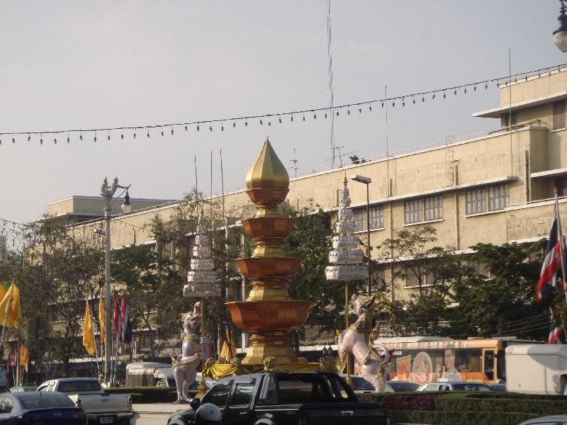 Thanon Rachadamnoen Klang Street, Bangkok Thailand