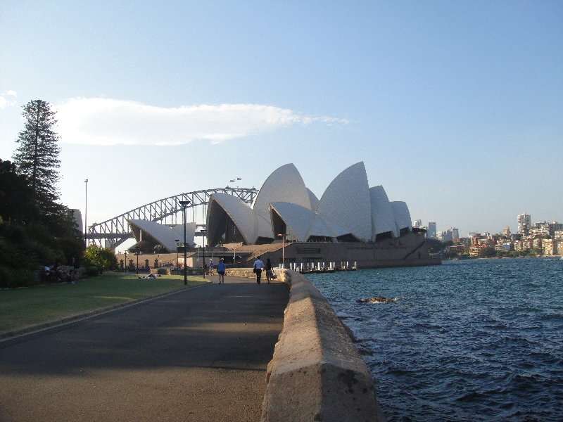 The Opera House from the park, Sydney Australia