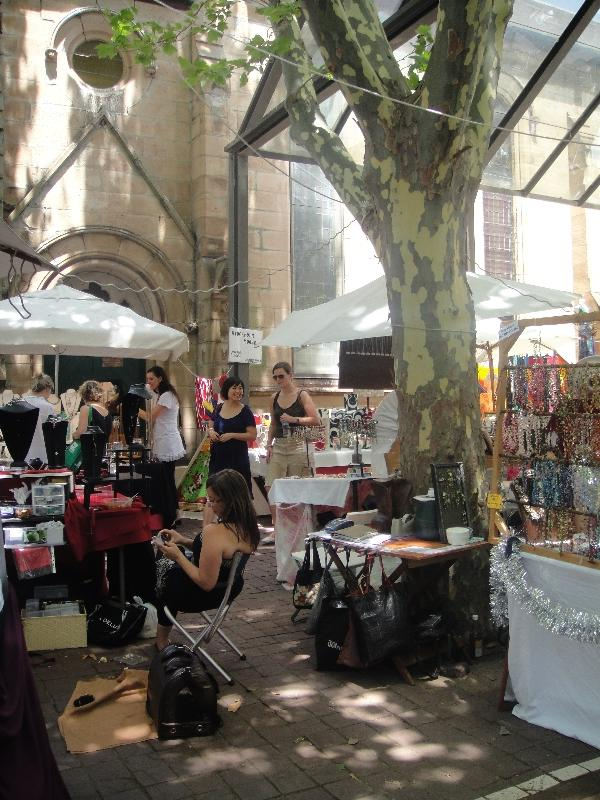Local artists at Paddington Market, Sydney Australia