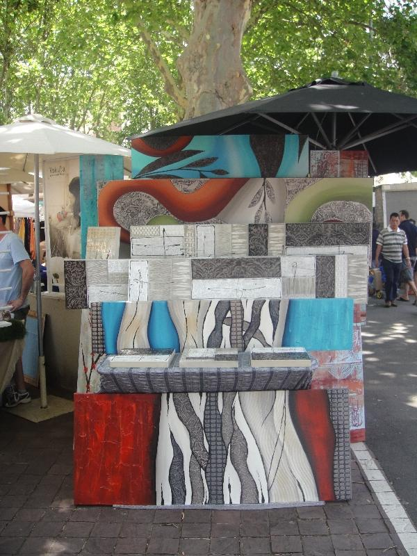Paintings at the Paddington Market, Australia